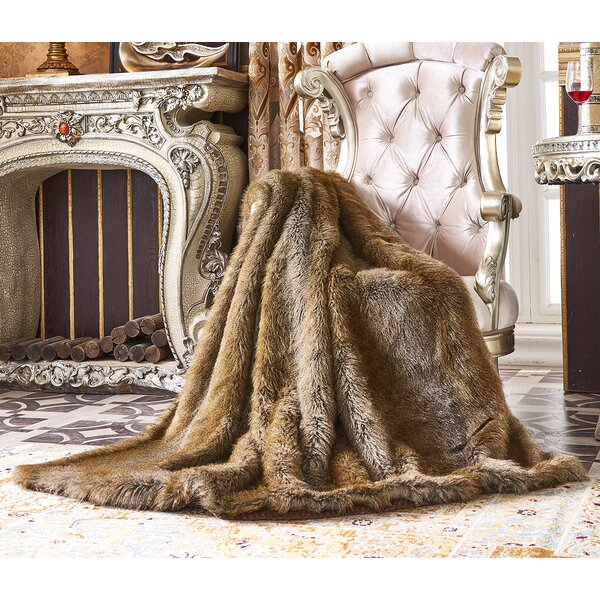 Bear Faux Fur Throw Wayfair