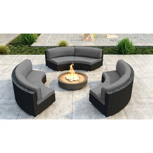 Glendale 3 Piece Sectional Set with Sunbrella Cushion by Everly Quinn