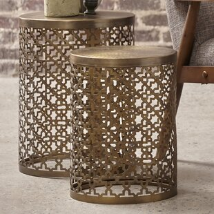 Linco Doleman Perforated 2 Piece Nesting Table