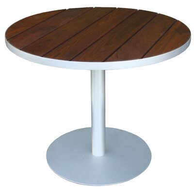 """Luma Solid Wood Bistro Table Modern Outdoor Top Finish: Seafoam Polyboard, Table Size: 36"""""""