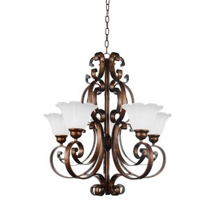CWI Lighting Victorian 5-Light Shaded Chandelier