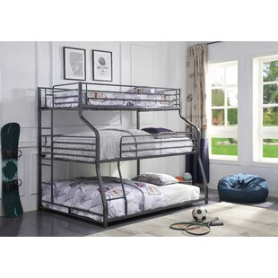 Find a Bjarne Twin Over Full Triple Bunk Bed by Harriet Bee Reviews (2019) & Buyer's Guide