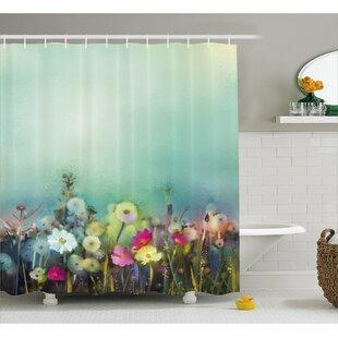 Kathi Poppy Daisy Chamomile Patterns Single Shower Curtain