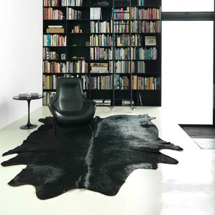 Colgan Cowhide Black Area Rug By Union Rustic