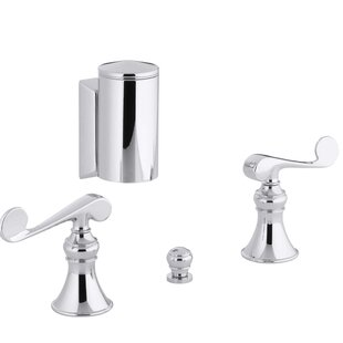 Kohler Revival Below-The-Rim Horizontal Swivel Spray Bidet Faucet with Scroll Lever Handles