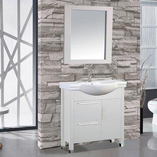 Peru 36 Single Sink Bathroom Vanity Set with Mirror By MTD Vanities