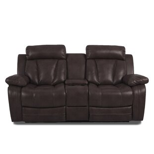 Shop Heppner Reclining Brown Loveseat by Red Barrel Studio