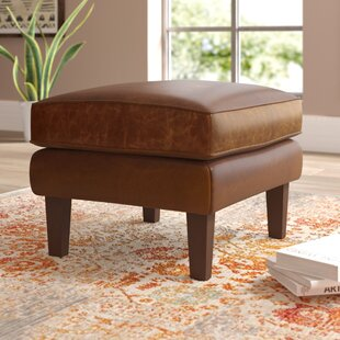 Tinney Leather Ottoman by ..
