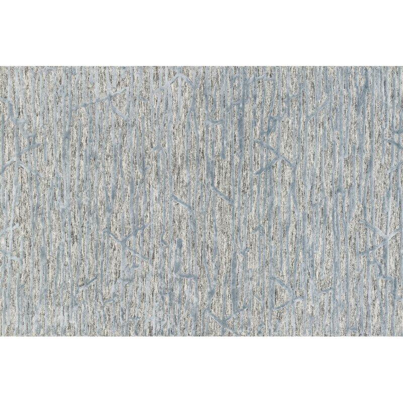 Orren Ellis Rusch Hand Tufted Gray Blue Area Rug Wayfair