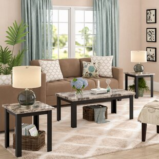 Casanova Marble Top 3 Piece Coffee Table Set
