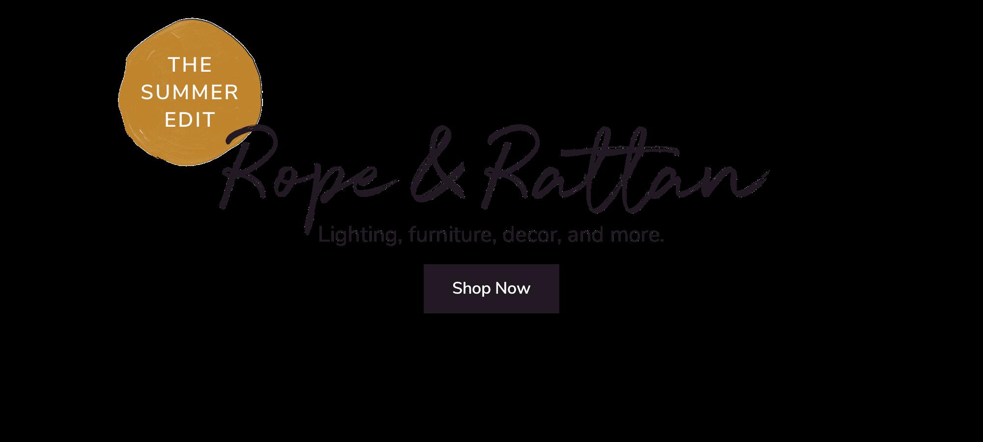 The Summer Edit: Rope & Rattan