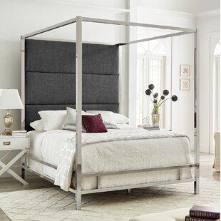 Brayden Studio Weymouth UpholsteredCanopy Bed