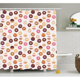 Alethia Colorful Yummy Donuts Single Shower Curtain