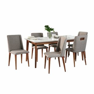 Tedeschi 7 Piece Solid Wood Dining Set Union Rustic
