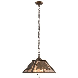 Meyda Tiffany Oak Tree 2-Light Square/Rec..