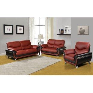 Orren Ellis Donahue 3 Piece Living Room Set