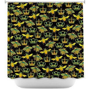 Queen Honey Bees Single Shower Curtain
