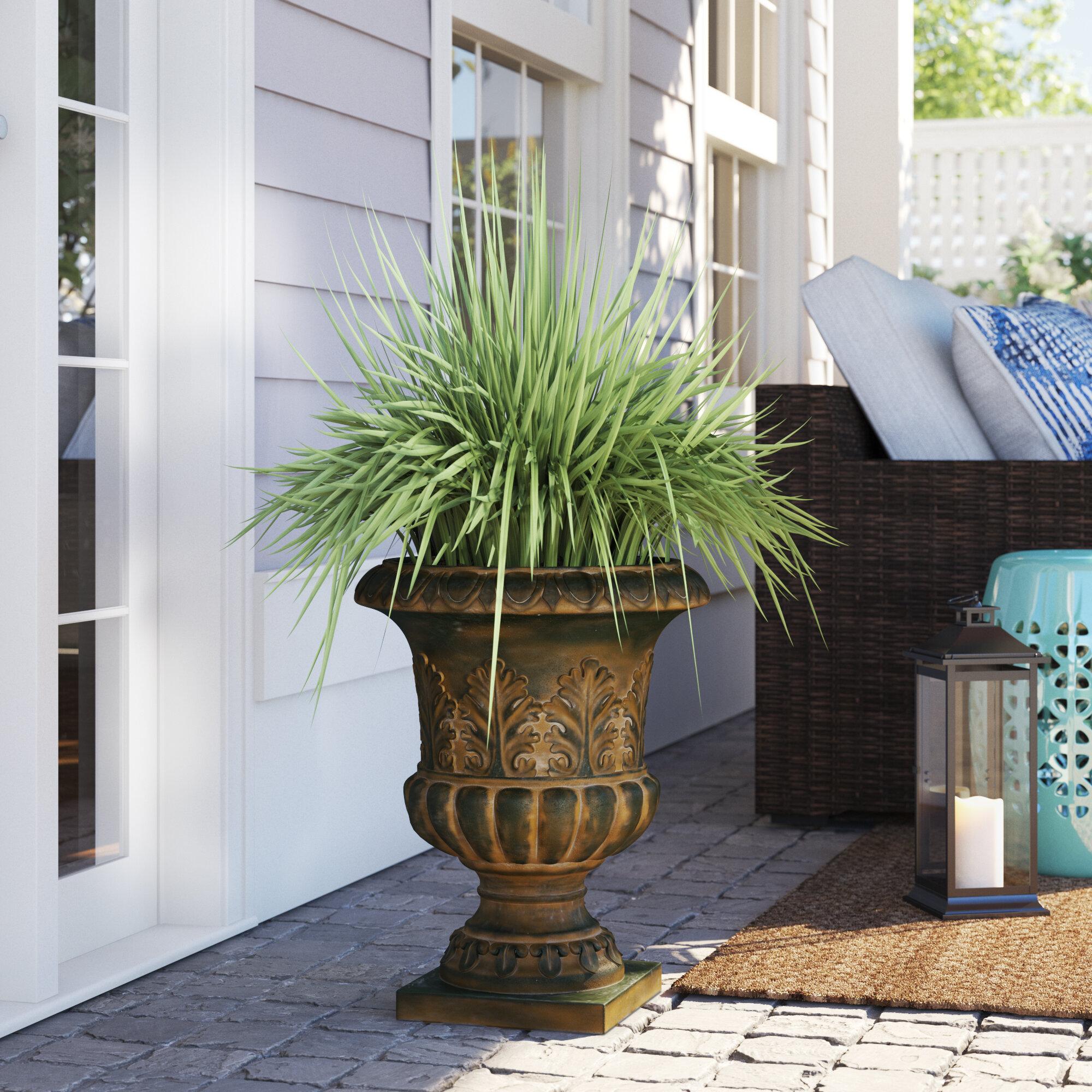 Sol 72 Outdoor Adams Weathered Decorative Fiberclay Urn Planter