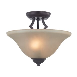 Waldenburg 2-Light Semi Flush Mount by Fleur De Lis Living