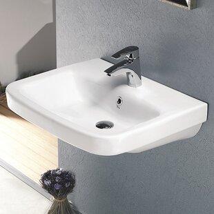 CeraStyle by Nameeks Noura Ceramic Rectangular Drop-In Bathroom Sink with Overflow