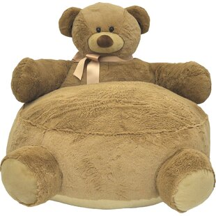 Kael Bear Figural Plush Kids Polyester Chair by Viv + Rae