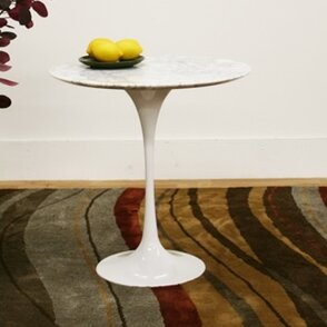 Baxton Studio Immer End Table in White by Wholesale Interiors