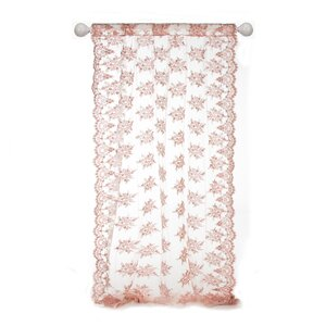 Remember My Love Nature/Floral Semi Sheer Single Curtain Panel