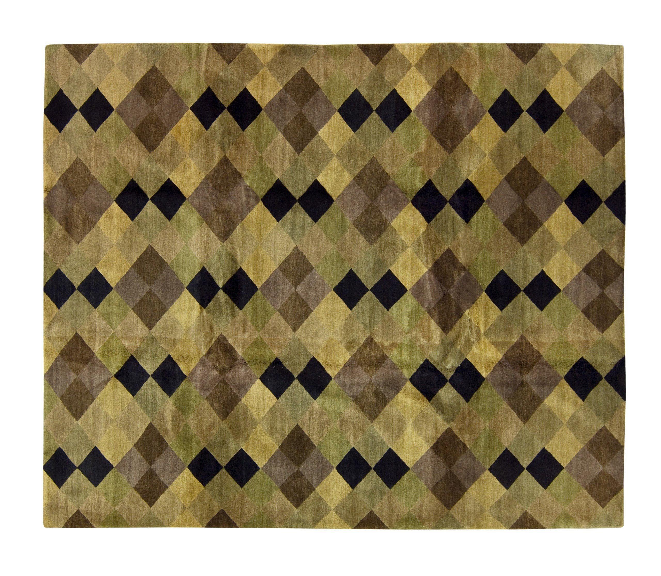 Tufenkian Argyle Hand Knotted Wool Yellow Area Rug Wayfair
