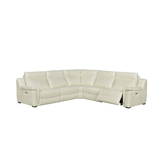 Loaiza Leather Reclining Sectional by Latitude Run