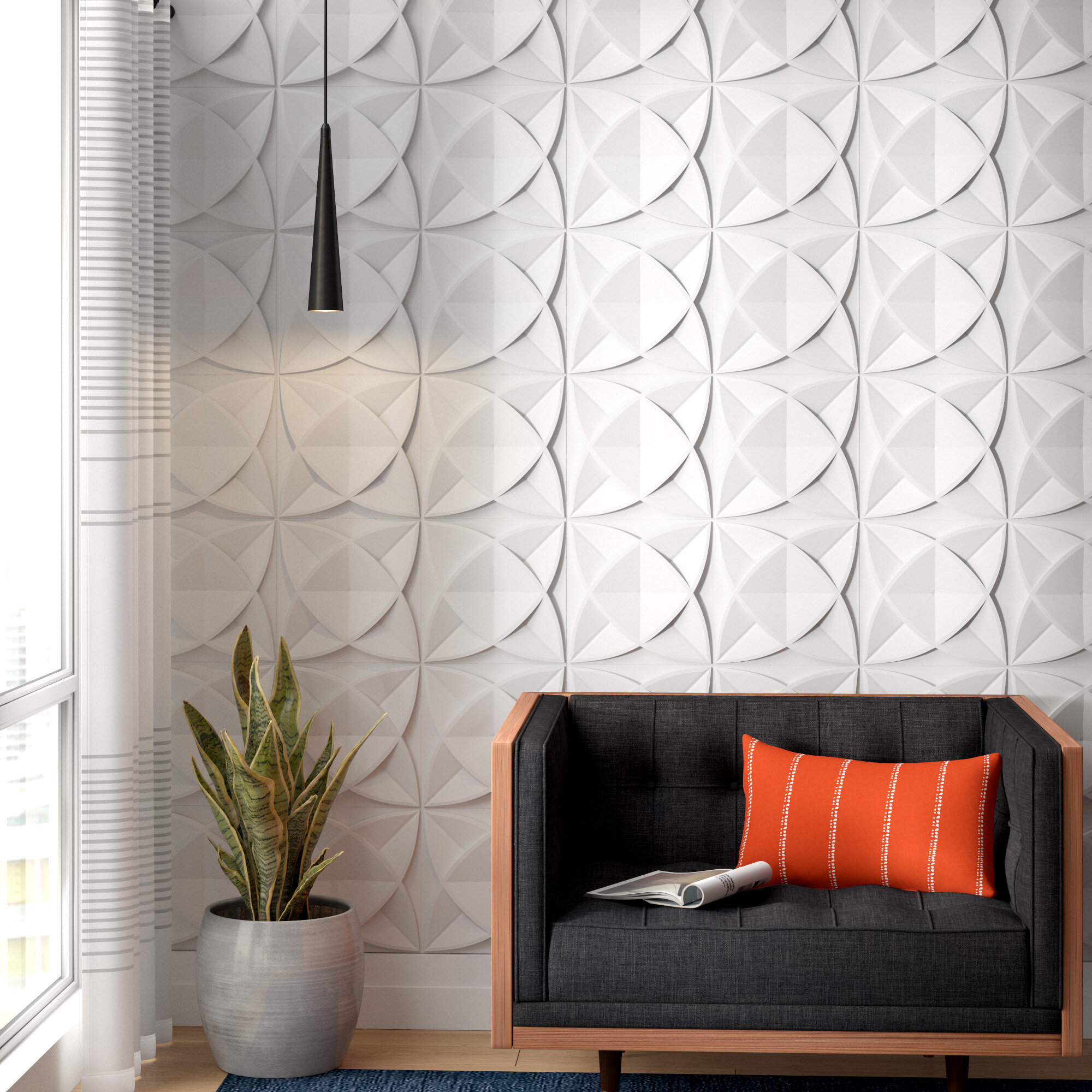 Keck Plant Fiber 11 8 L X 11 8 W 3d Embossed Wallpaper Panel