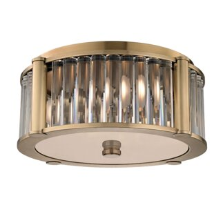 Everly Quinn Abdera 3-Light Flush Mount