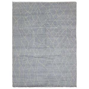 Marjorie Hand-Woven Wool Gray Area Rug