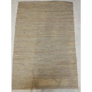 Rosalee Handmade Kilim Wool Beige Rug by Brick & Barrow