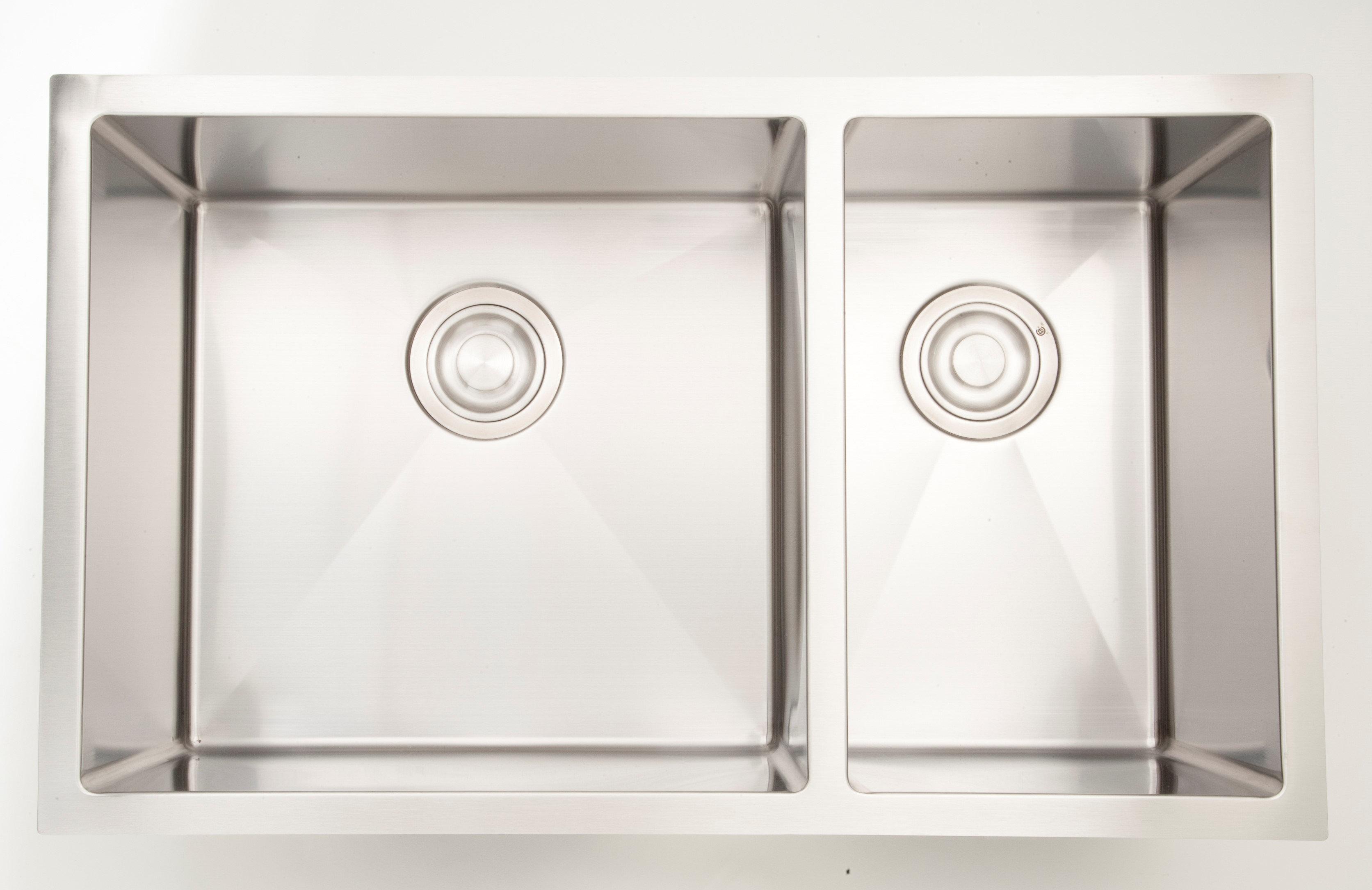 Royalpurplebathkitchen 28 X 18 Double Basin Undermount Kitchen Sink With 18 Gauge Wayfair