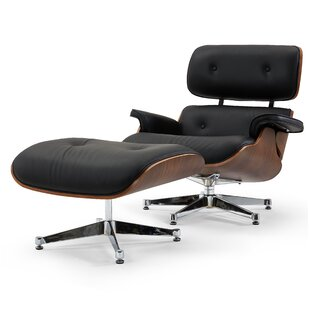Firenze Swivel Lounge Chair and Ottoman by Pasargad