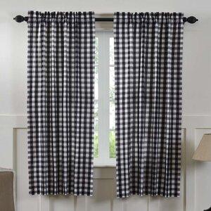 Caulder Buffalo Check Lined 100% Cotton Curtain Panels (Set of 2)
