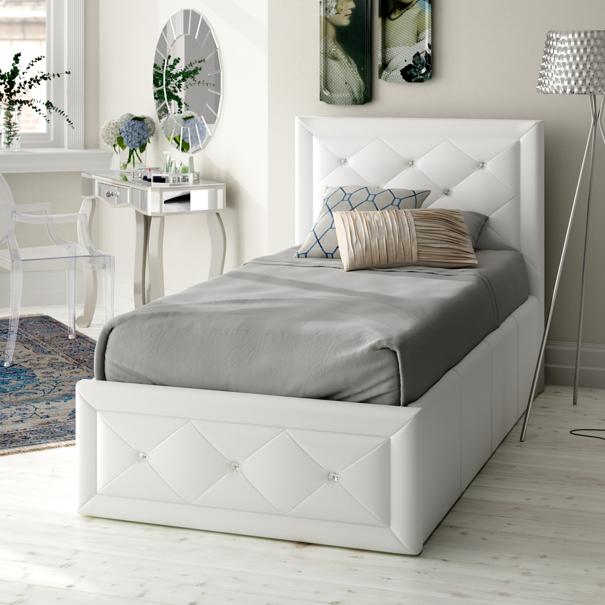 Fairmont Park Anatase Crystal Ottoman Bed Reviews Wayfair Co Uk