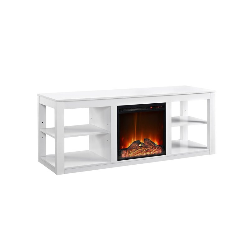 "Rickard 59"" TV Stand with Fireplace"