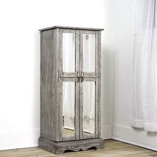 Millwood Pines Bayliff Free Standing Jewelry Armoire with Mirror