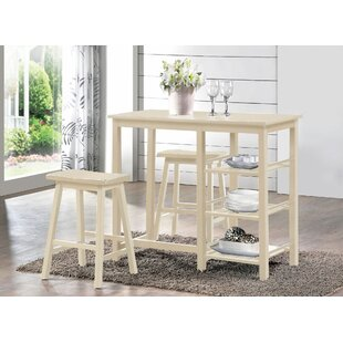 Buddy 3 Pieces Pub Table Set Longshore Tides