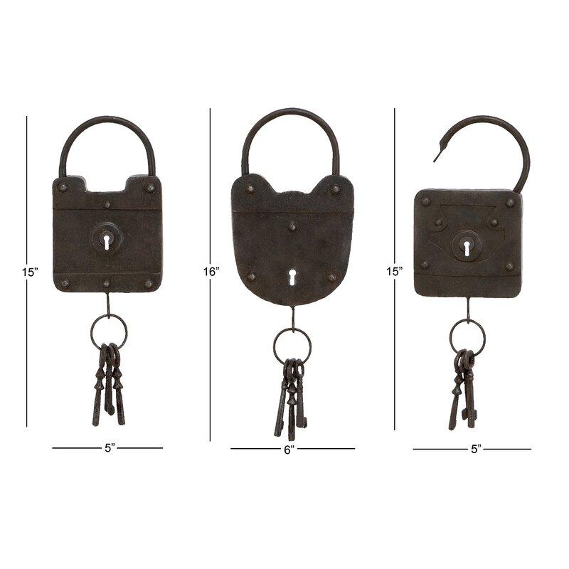 Metal Key Wall Décor Set