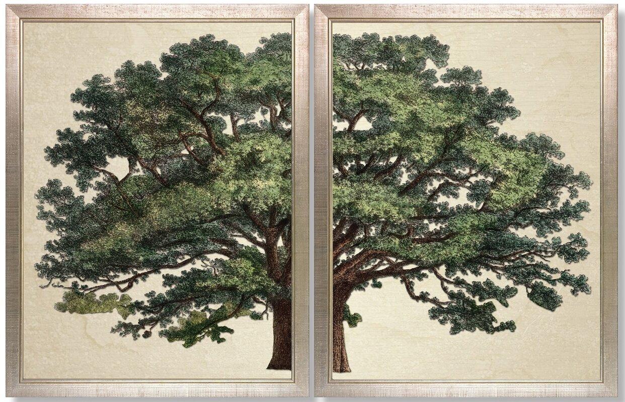 Strutt Tree Duo by Jacob George Strutt Framed Painting Print