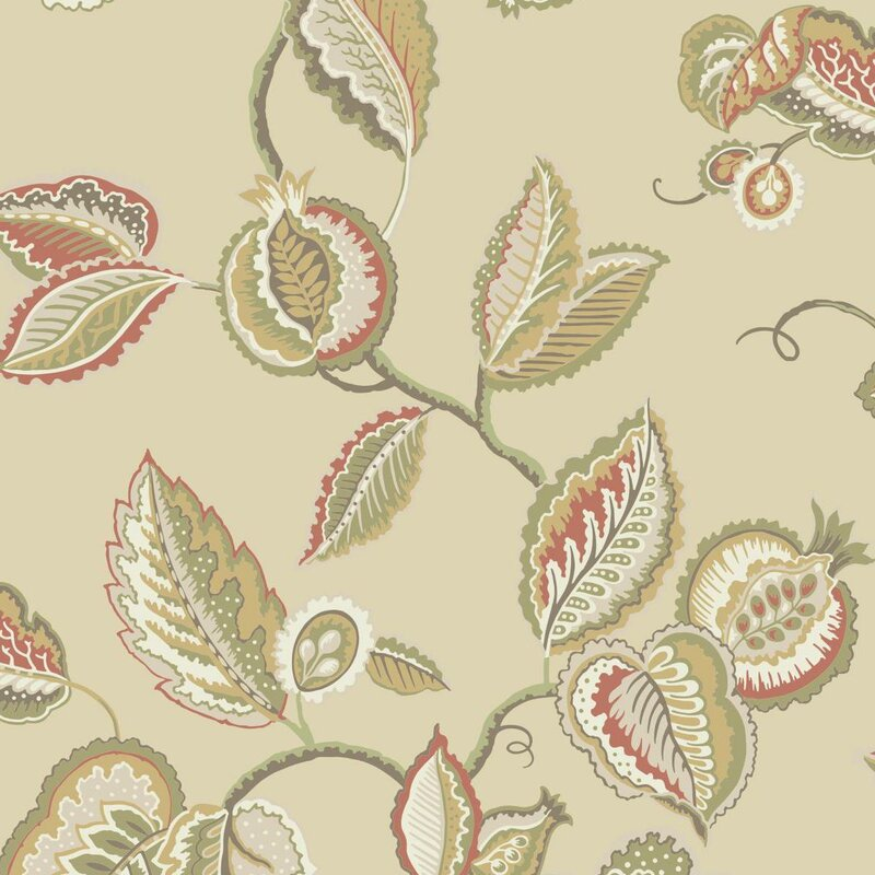 York Wallcoverings Waverly Fantasy Fleur 33 X 205 Floral And