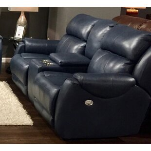 Shop Safe Bet Leather Reclining Loveseat by Southern Motion