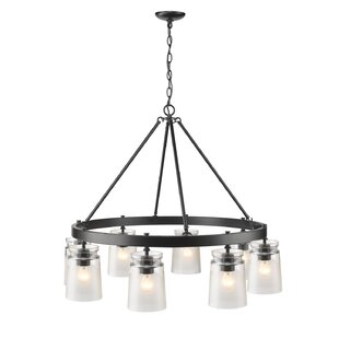 Loon Peak Rock River 6-Light Wagon Wheel Chandelier