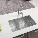 """Stainless Steel 28"""" L x 17"""" W Undermount Kitchen Sink"""
