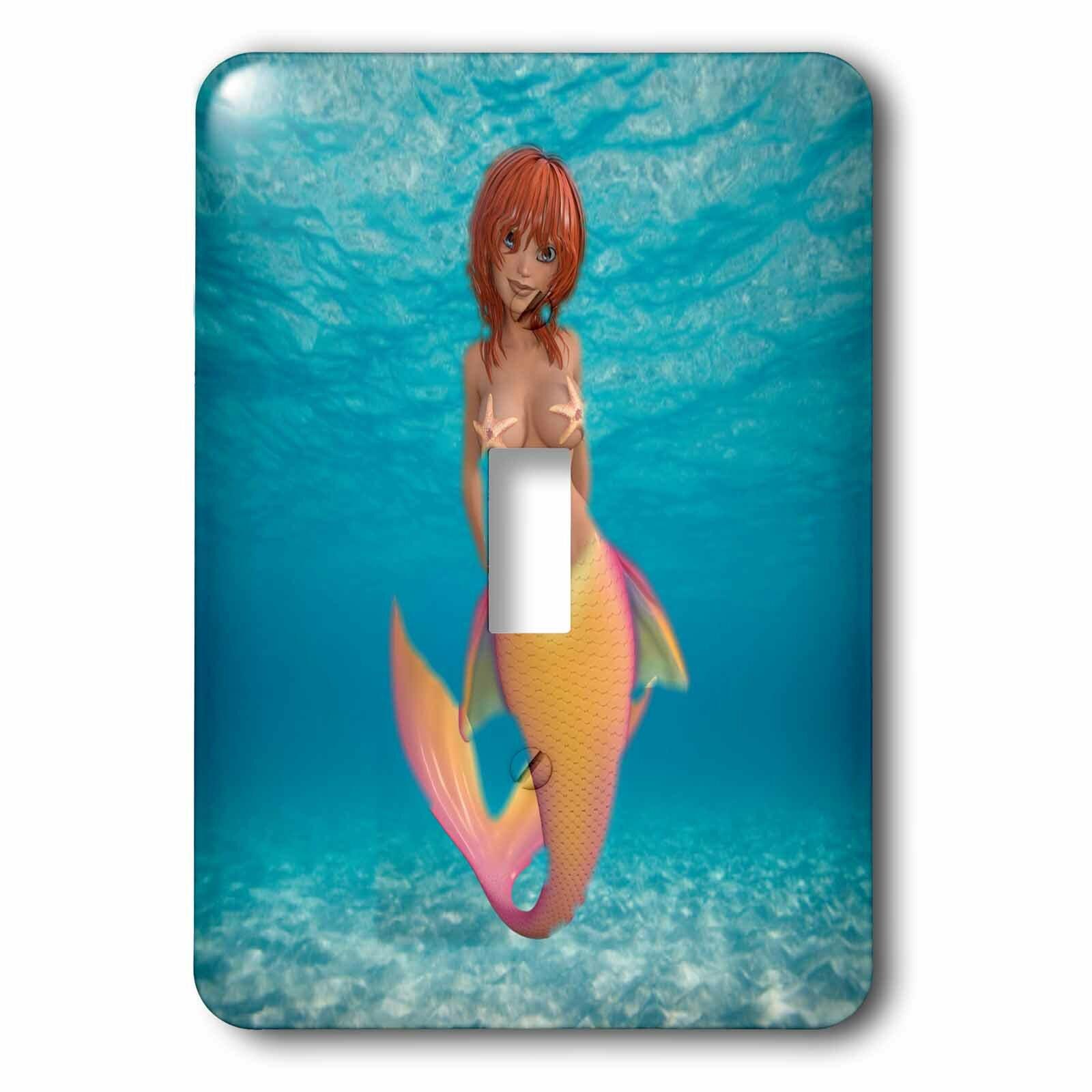 3drose Mermaid 1 Gang Toggle Light Switch Wall Plate Wayfair