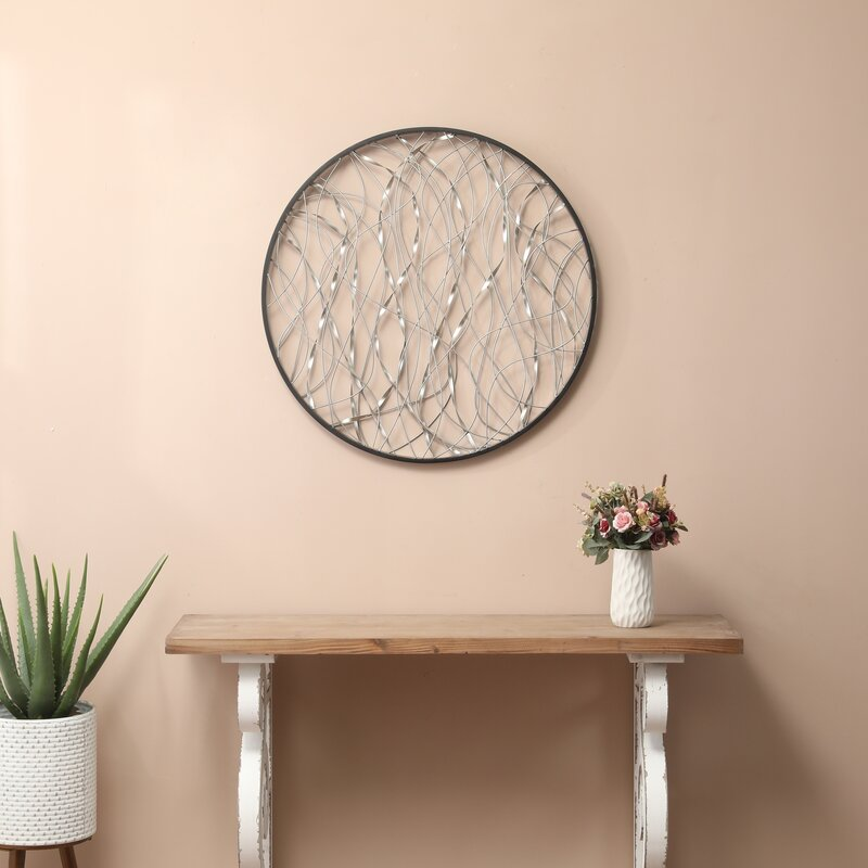 Ebern Designs Metal Infinity Round Wall Décor & Reviews ...