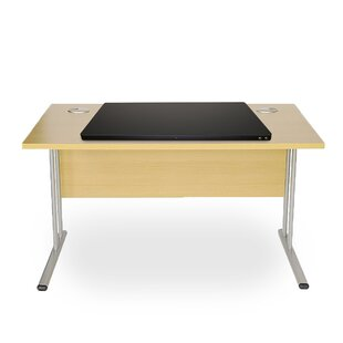 Electric Powered Adjustable Wood Standing Desk with Color Coded Buttons by Mind Reader