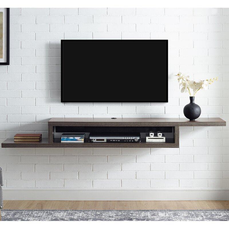 martin home furnishings ascend 60 asymmetrical wall mounted tv rh wayfair com wall mount component shelf wood wall mount component shelf best buy